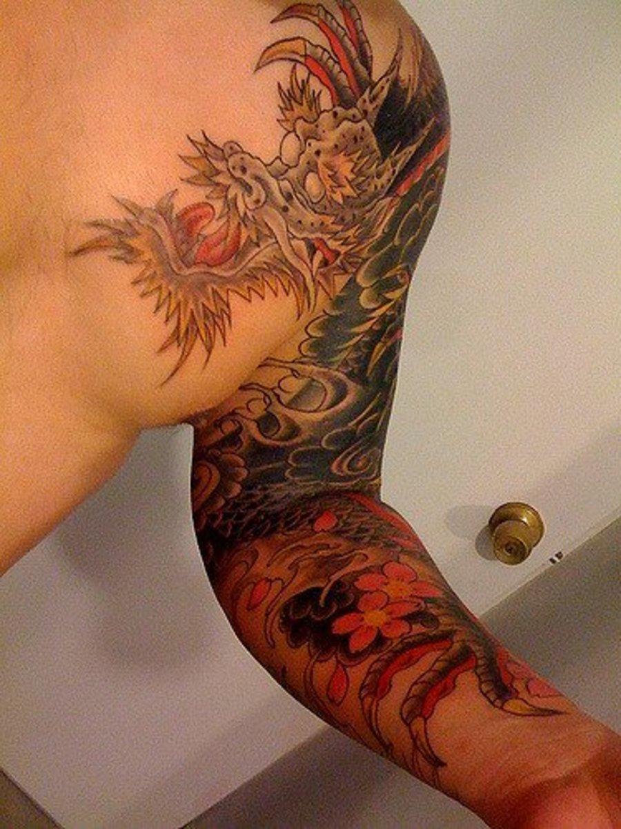 Japanese Hikae tattoo of a dragon