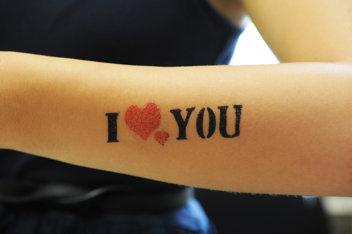 I love you . . . and my tattoos!