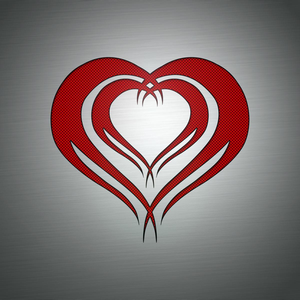 A simple tribal heart flash.