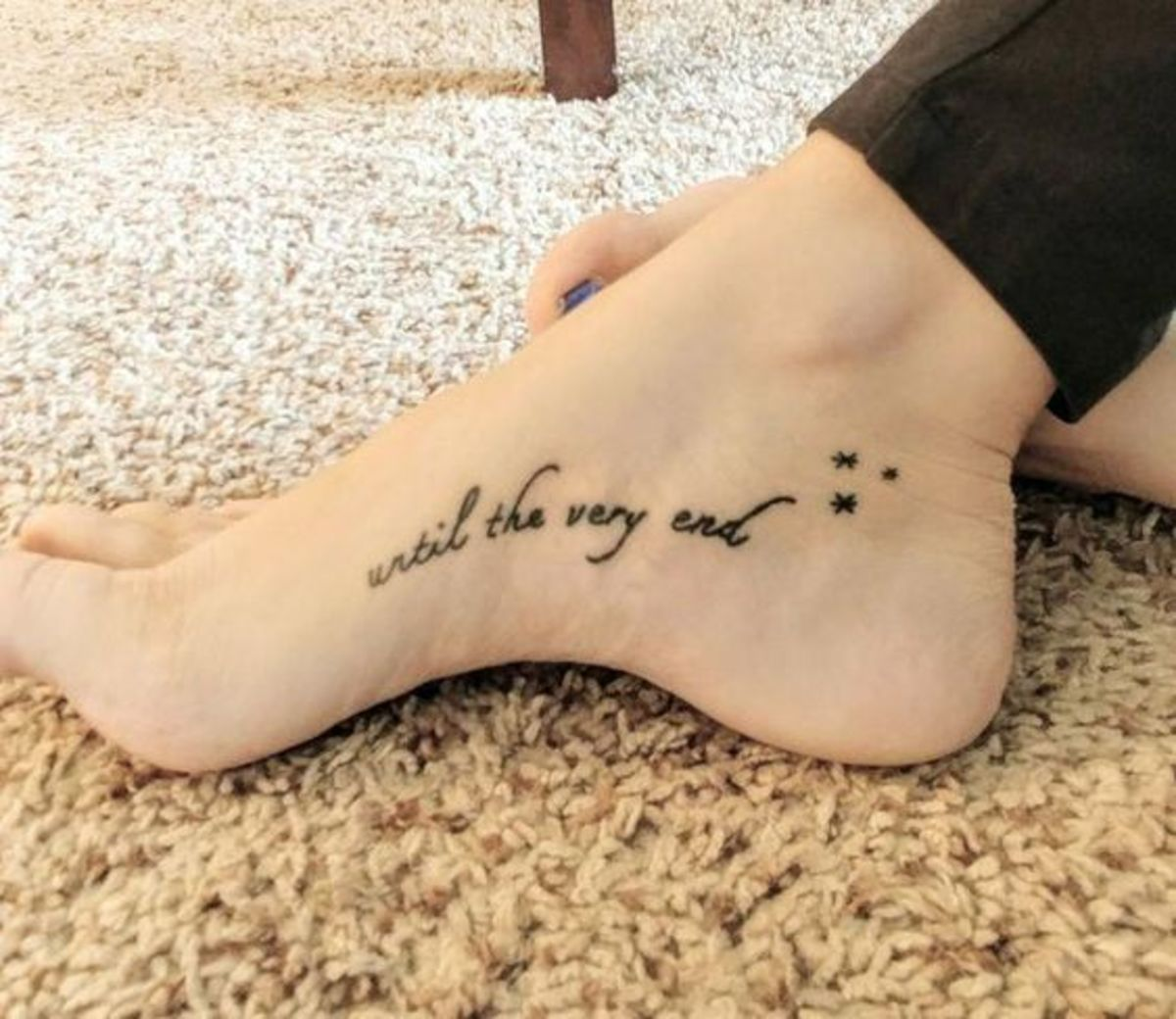 Until the very end tattoo
