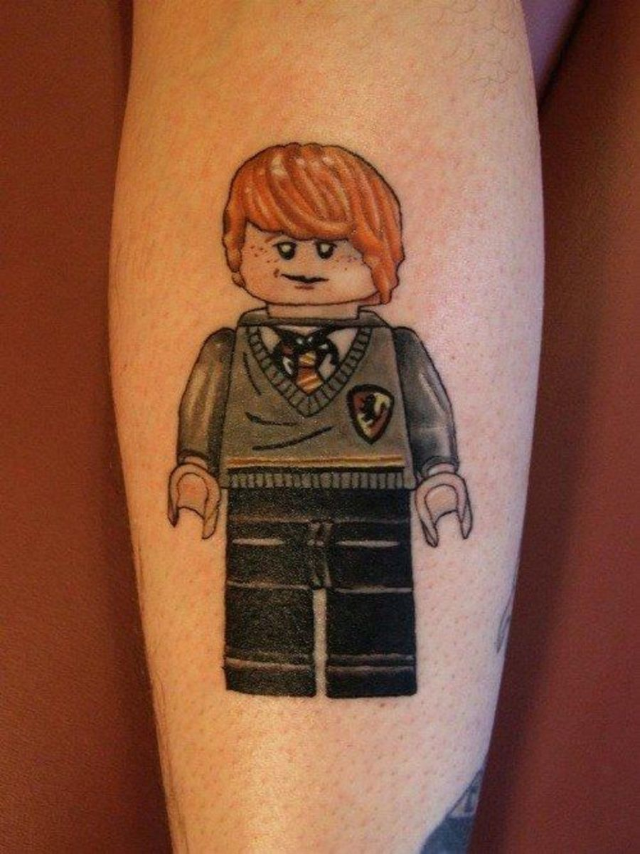 Ron Lego tattoo