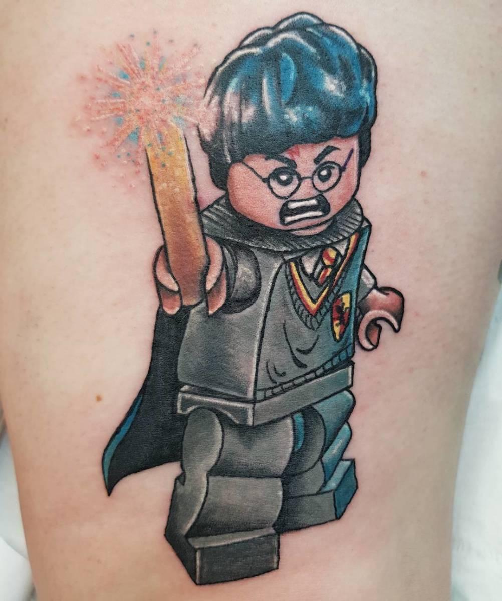 Lego Harry tattoo