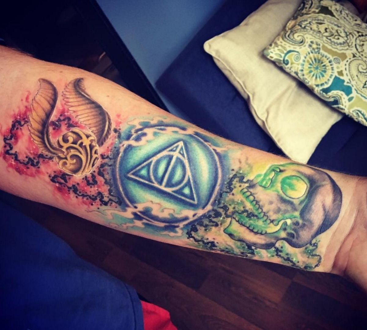 Harry Potter symbols tattoo