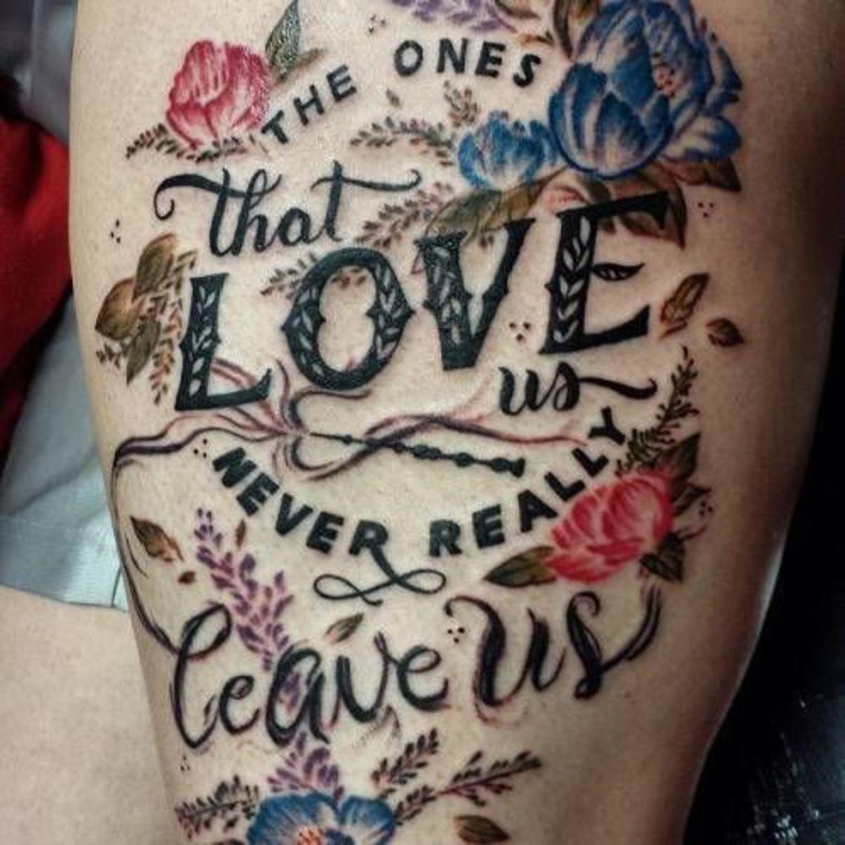 Movie quote tattoo