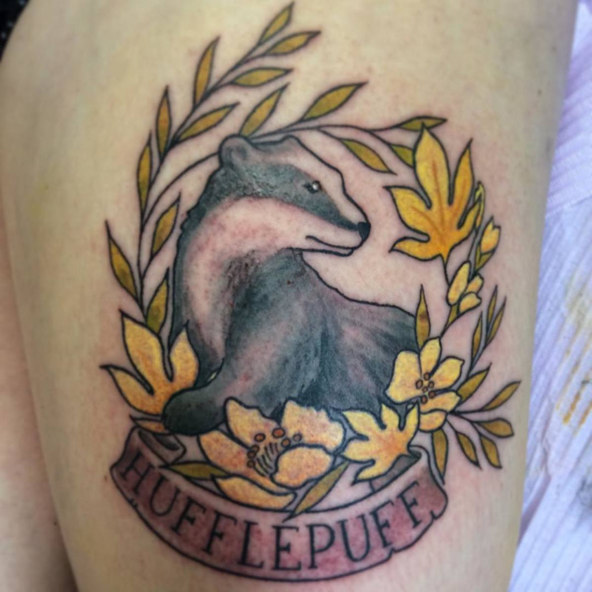Hufflepuff tattoo