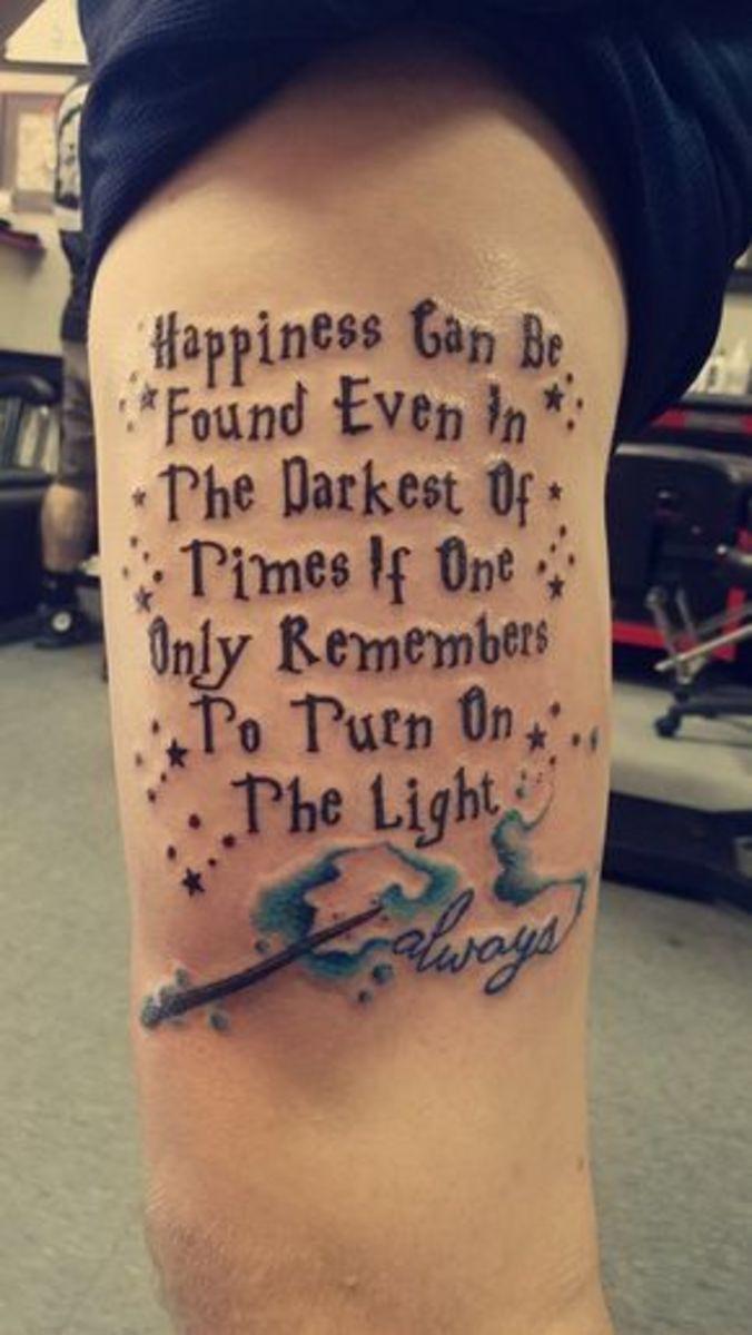 Dumbledore movie quote tattoo