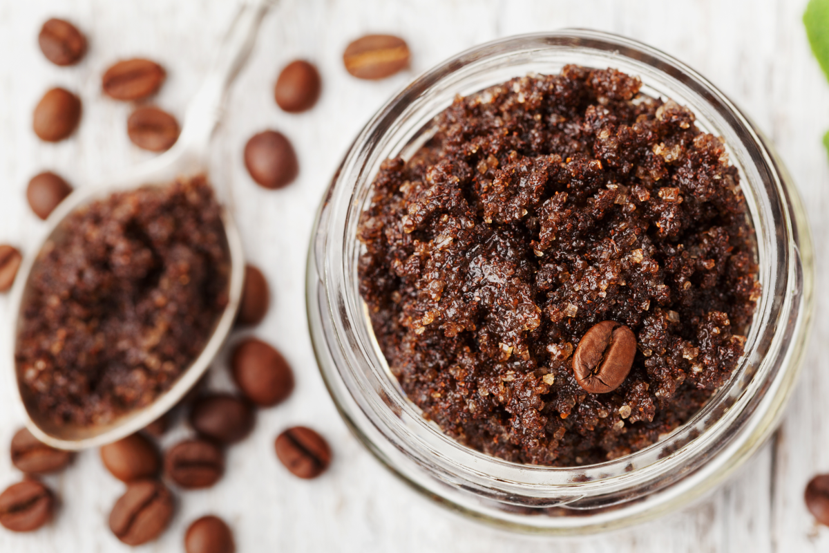 DIY Coffee Scrub to brighten tattoos!