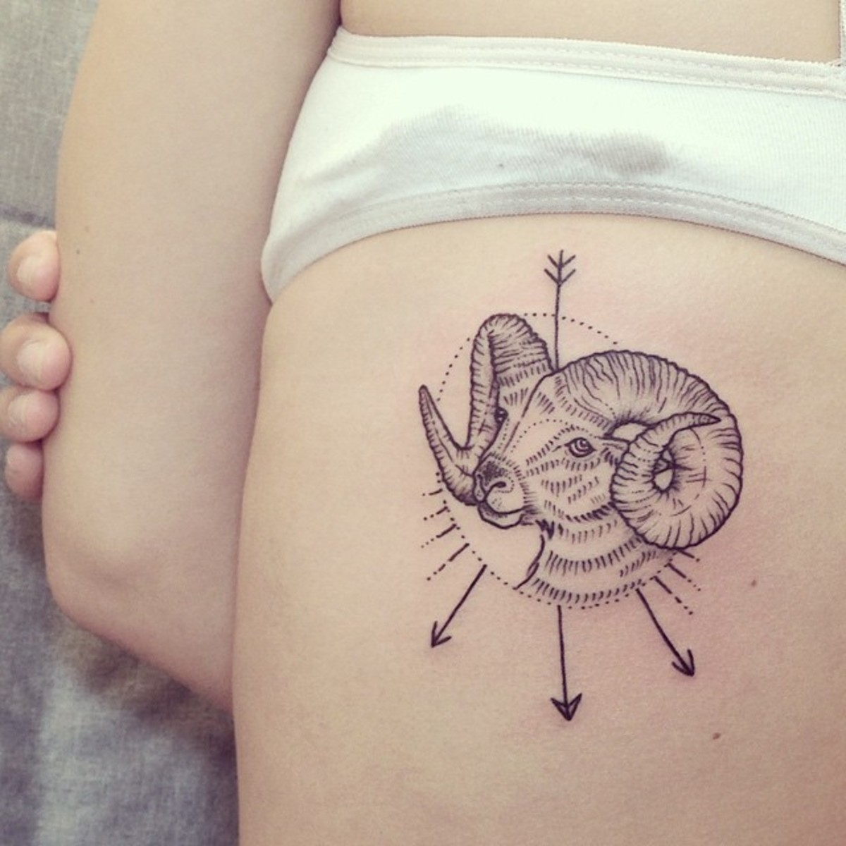 Cute Aries tattoo for girls