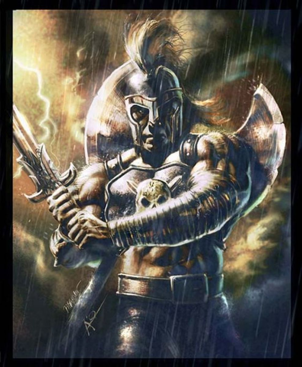 Ares tattoo idea for men