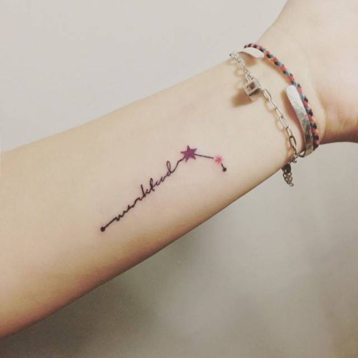 Dainty Aries constellation tattoo