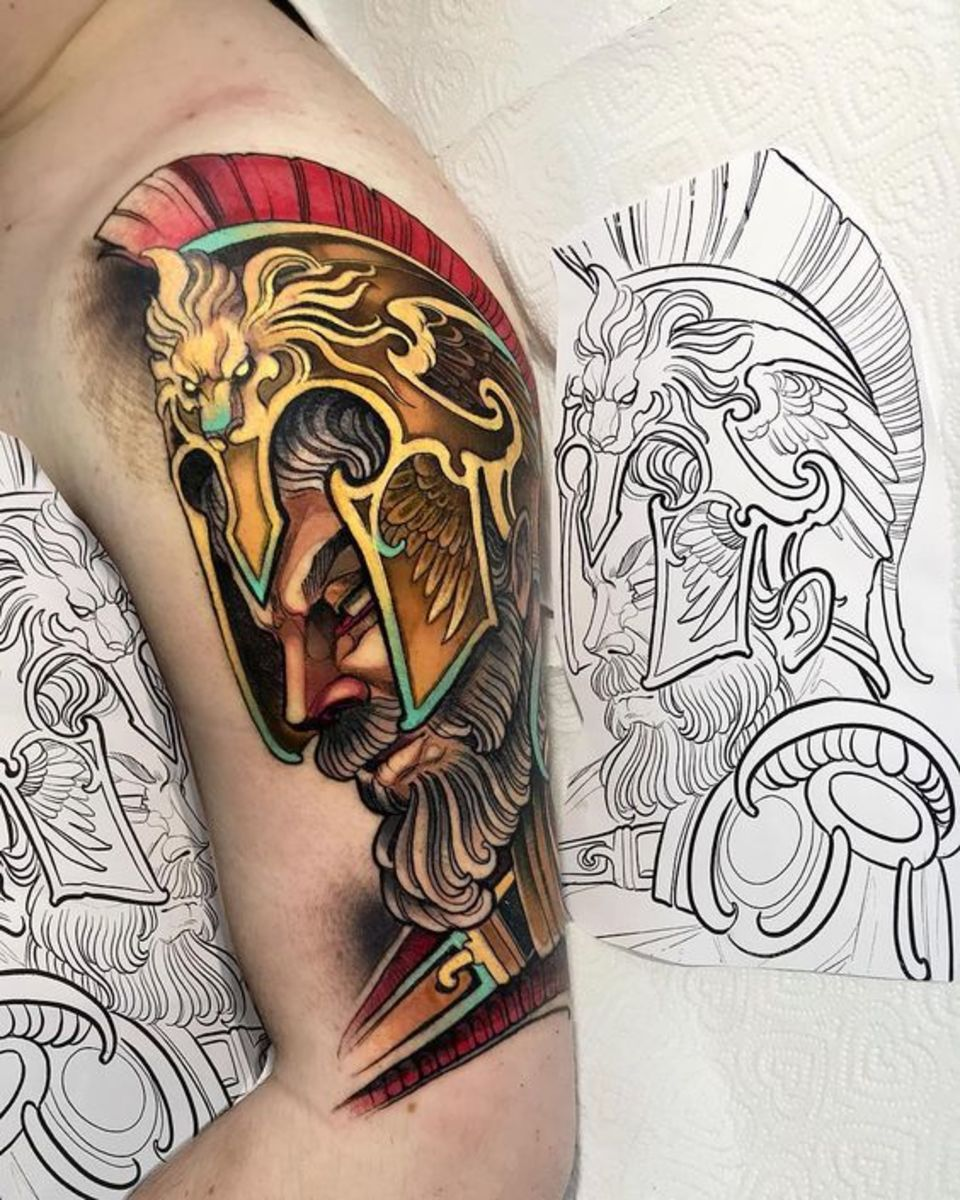 Ares God of War tattoo by ISNARD BARBOSA