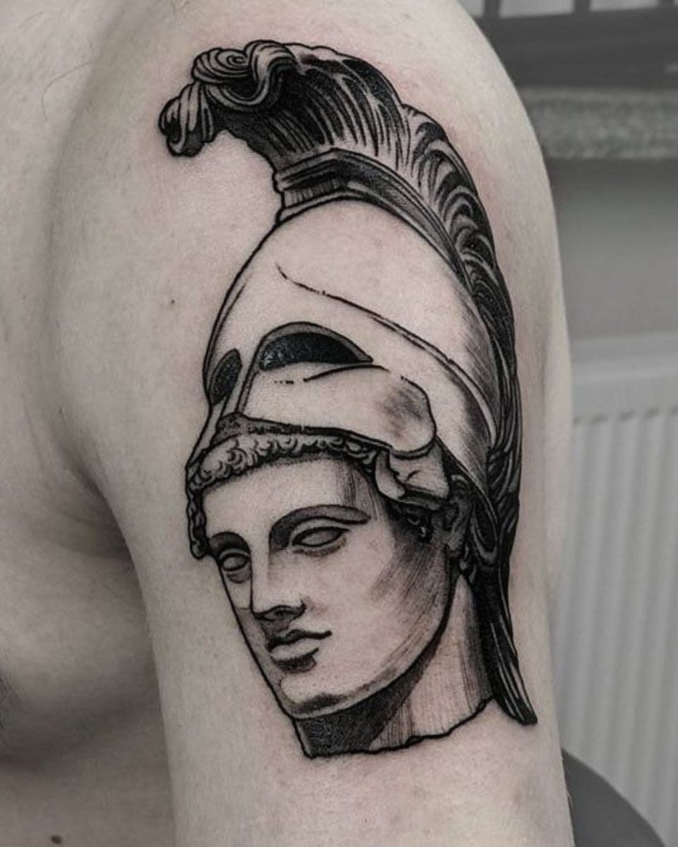 Ares arm  tattoo by Zajawa Kraków