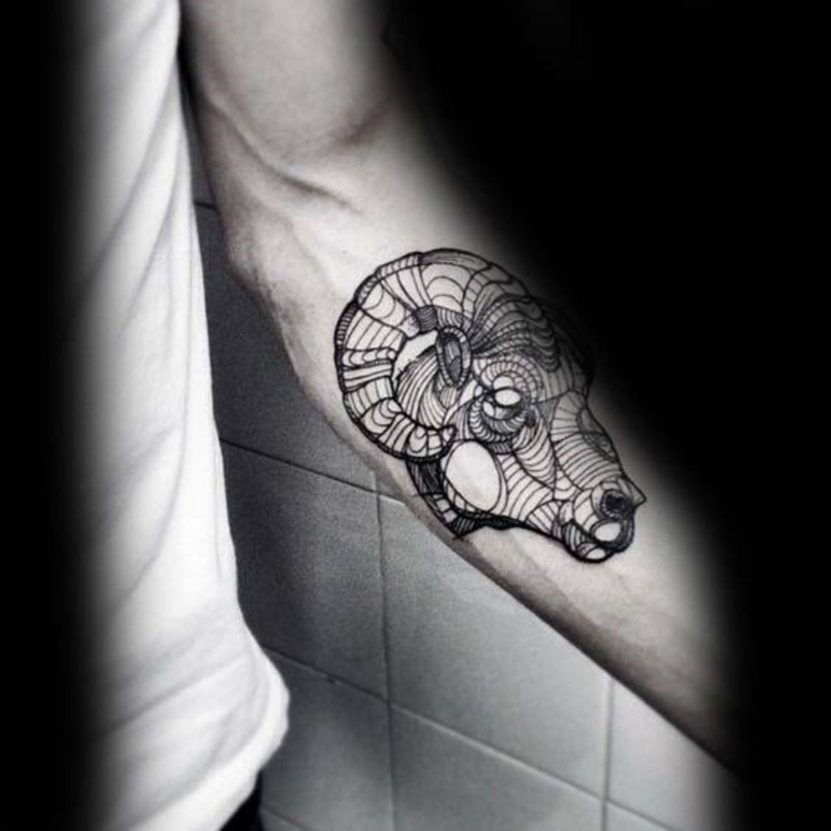 Aries forearm tattoo