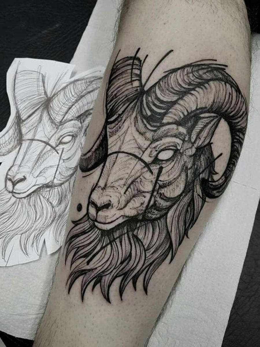 Aries arm tattoo for men