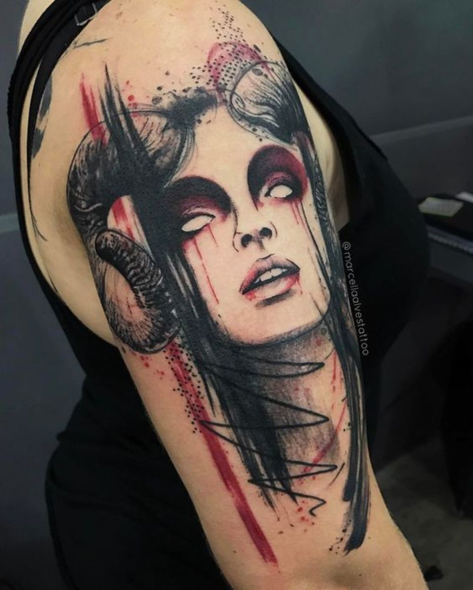 Aries tattoo by Marcella Alves