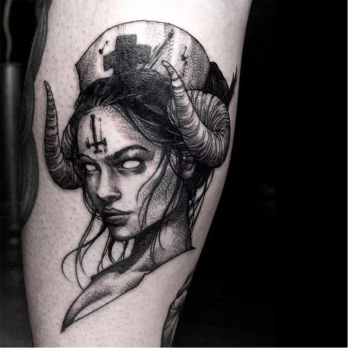 Aries hell nurse tattoo by G.ghost Korea