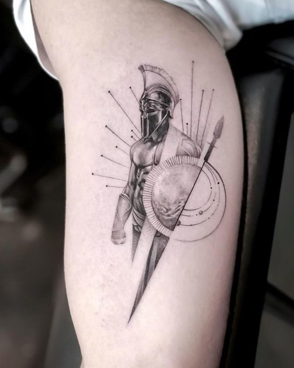 Mars God tattoo by John Monteiro
