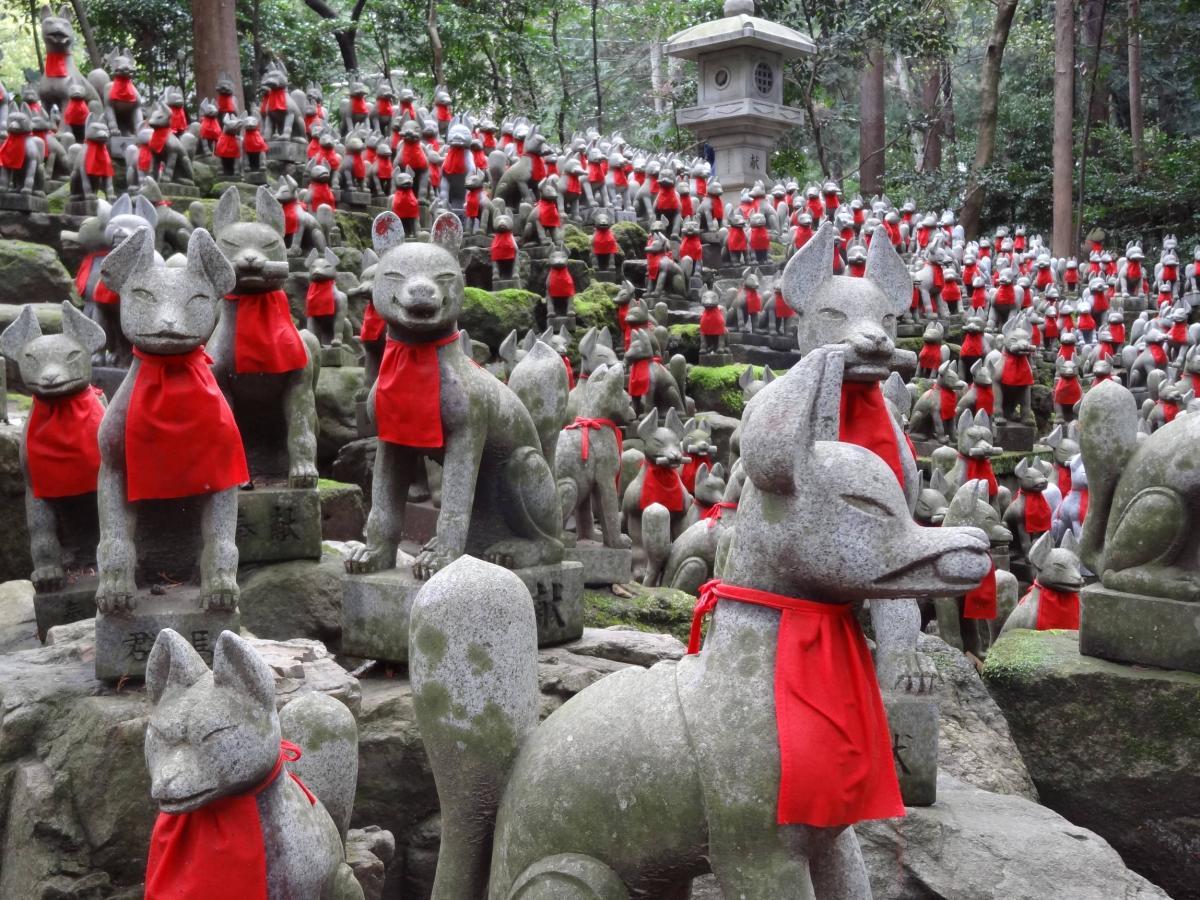 Myōbu statues @ Toyokawa Inari Temple, Aichi Prefecture, Japan