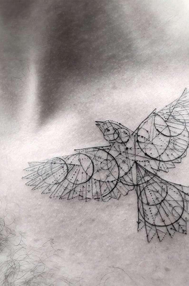 A custom bird tattoo.