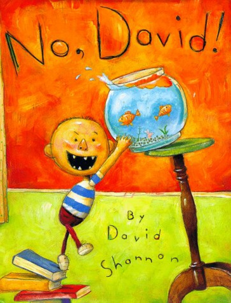 No David! by David Shannon Review and Preschool Lesson Plan
