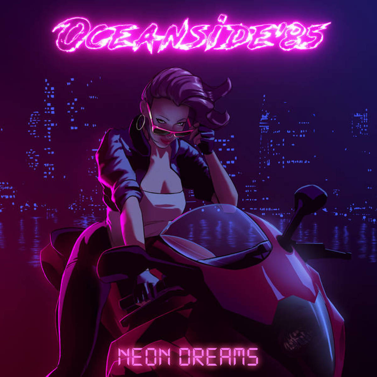 "Album artwork for ""Neon Dreams,"" by Oceanside85"