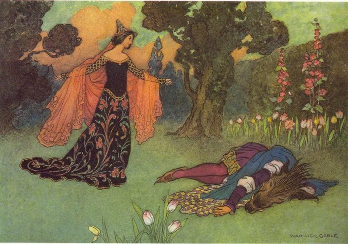 """""""Beauty and the Beast"""" by Warick Goble, 1913"""