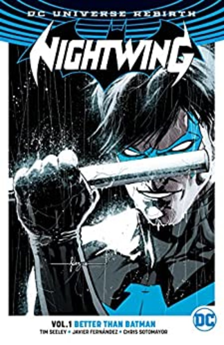 """Nightwing: Rebirth: Better Than Batman"" Volume 1 graphic novel cover."
