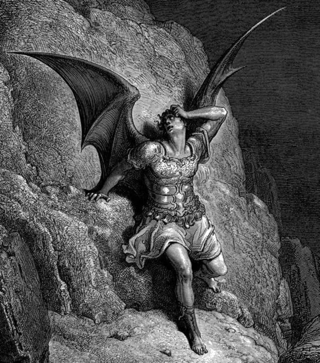 Picture of Satan by Gustave Dore