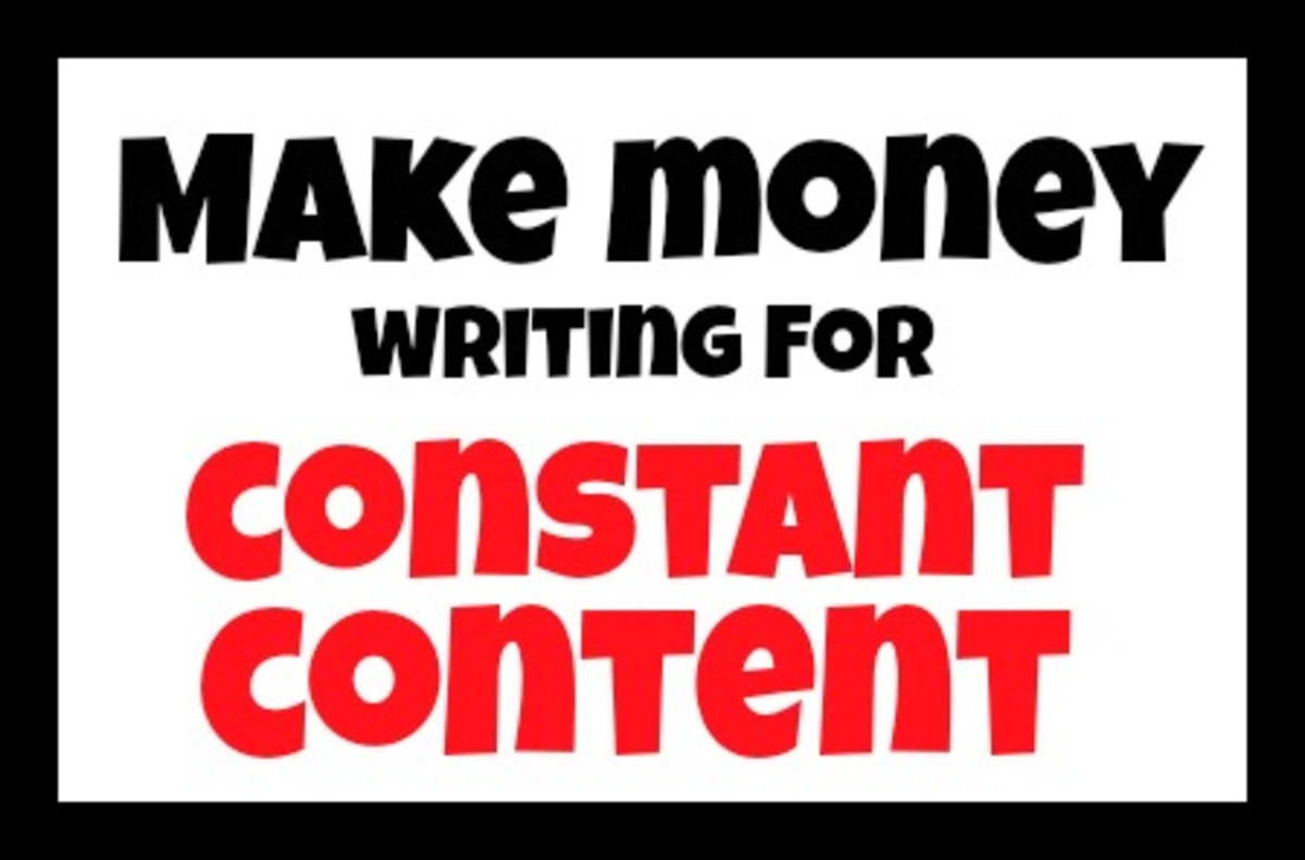 Make money writing articles for Constant Content.