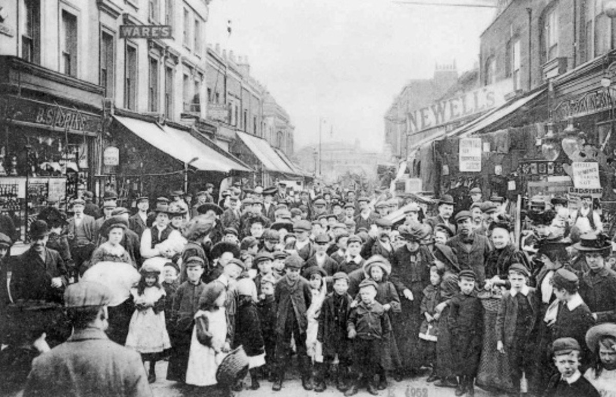 Back in Time: Busy East London Market.