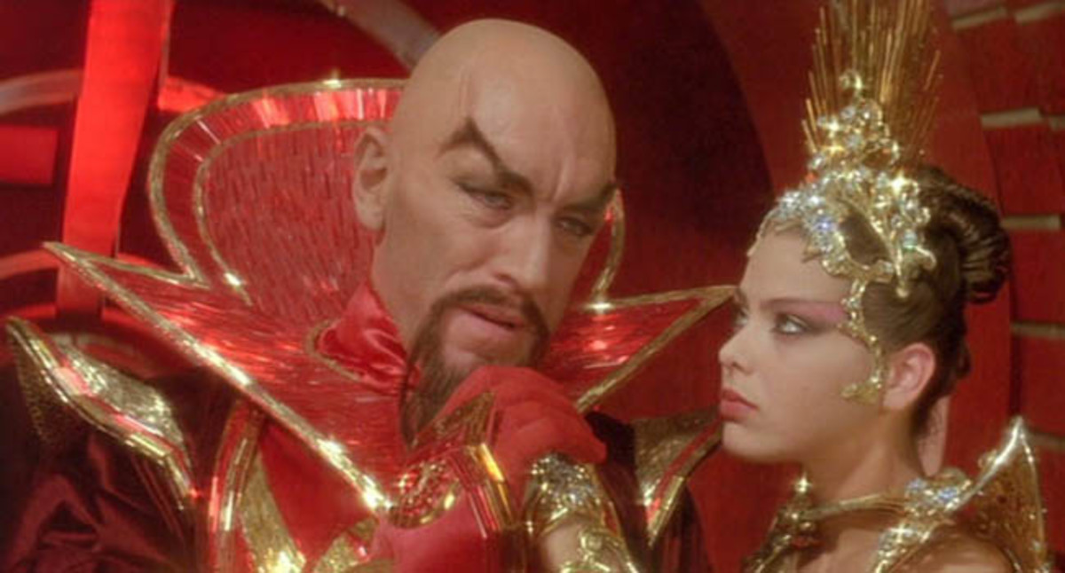 Max Von Sydow and Ornelli Muti in the 1980 Movie Flash Gordon