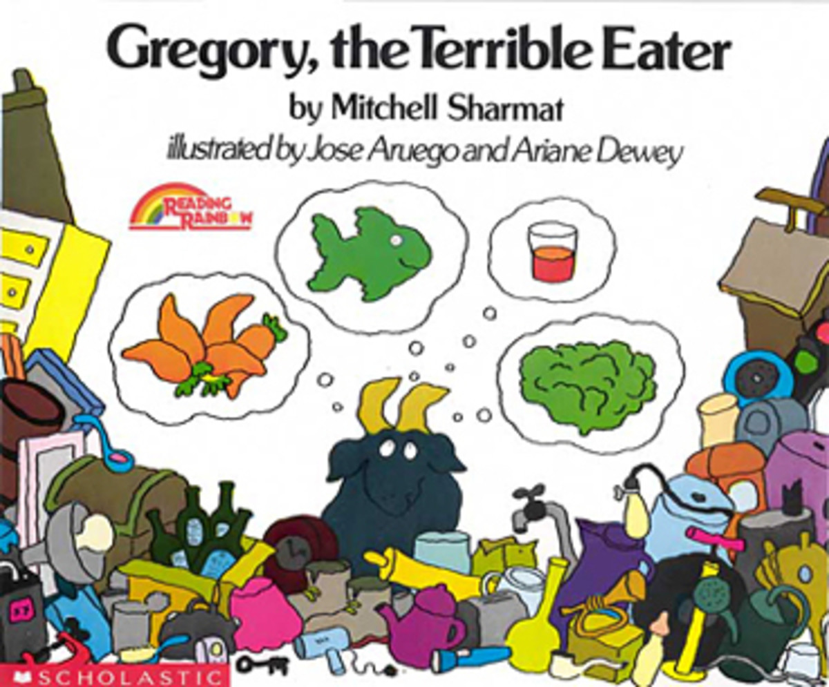 Gregory the Terrible Eater by Mitchell Sharmat, a Reading Rainbow book about picky eating, healthy foods, and nutrition