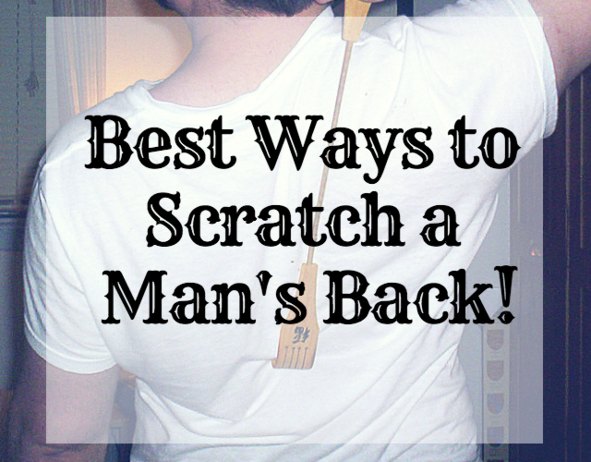 Four of the best ways to scratch a man's back.