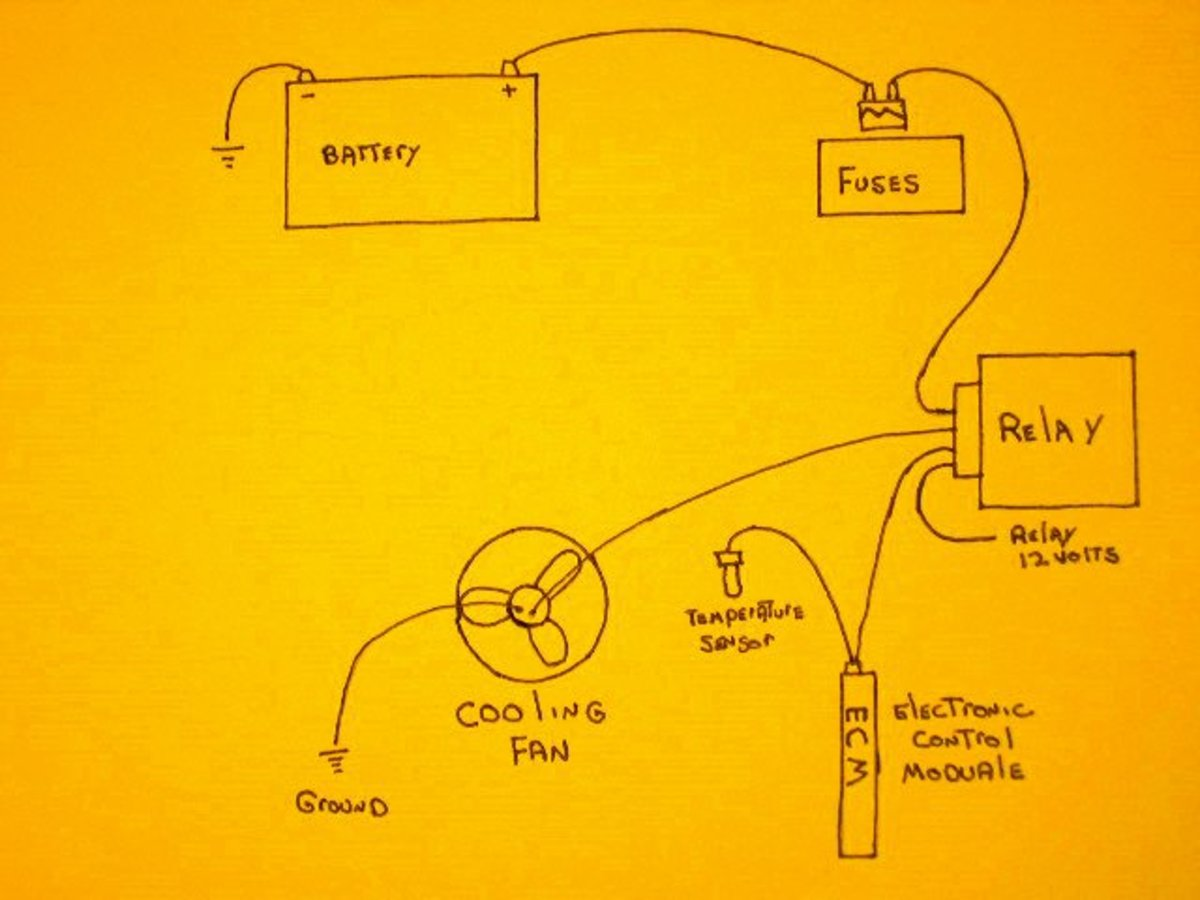 simple cooling fan circuit
