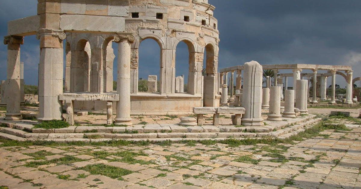 Roman ruins at Leptis Magna