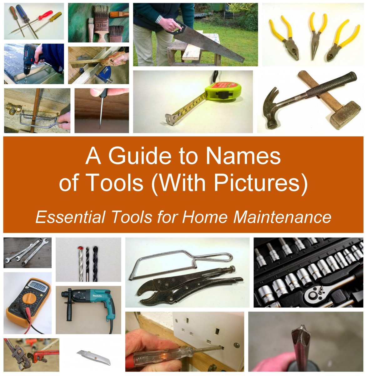 Essential tools for home maintenance.