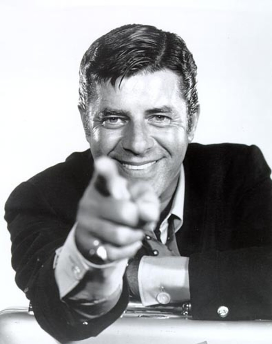 "Jerry Lewis Quote: ""Dream as if you'll live forever, live as if you'll die today."""