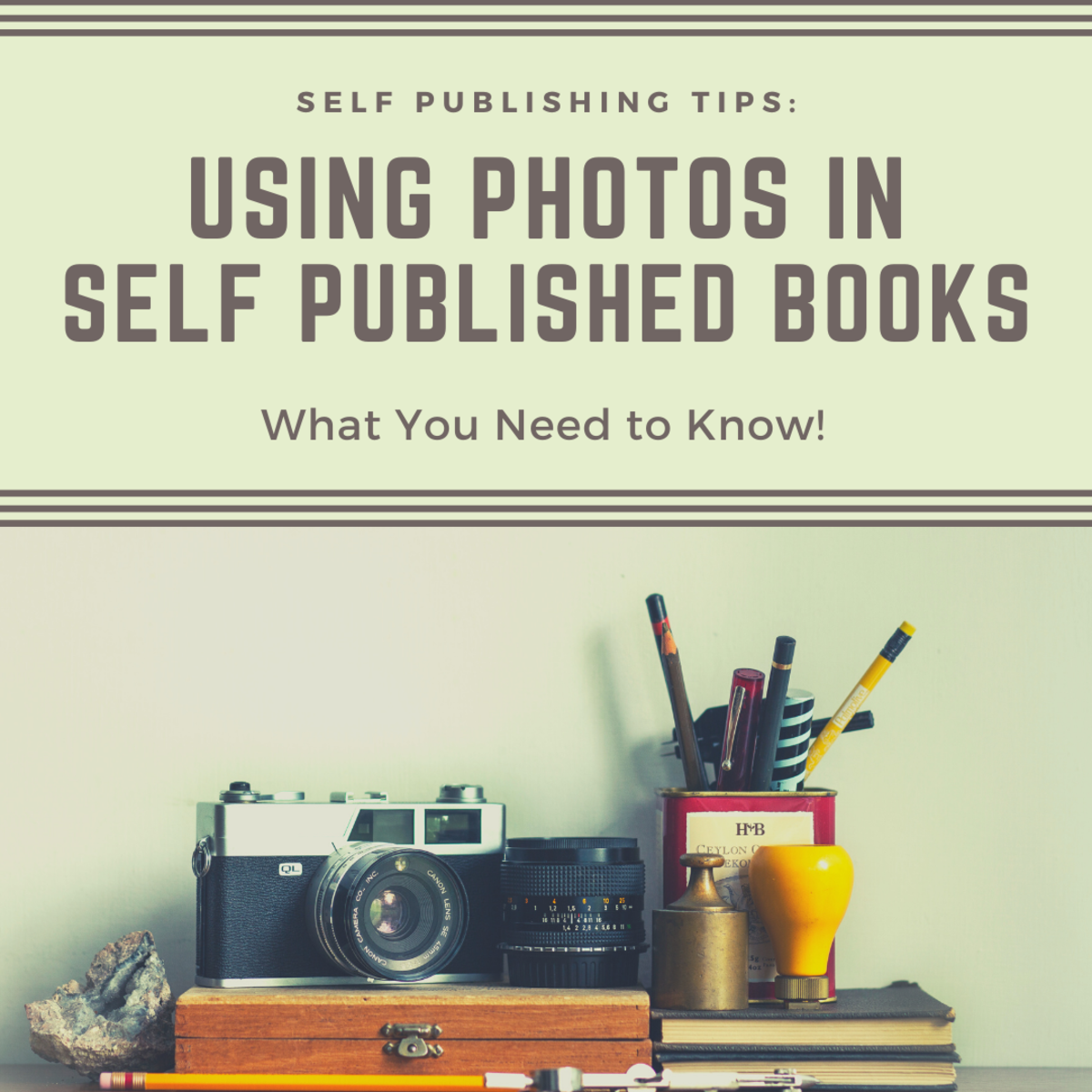 Understand the legal and technical issues for using photos in self published books