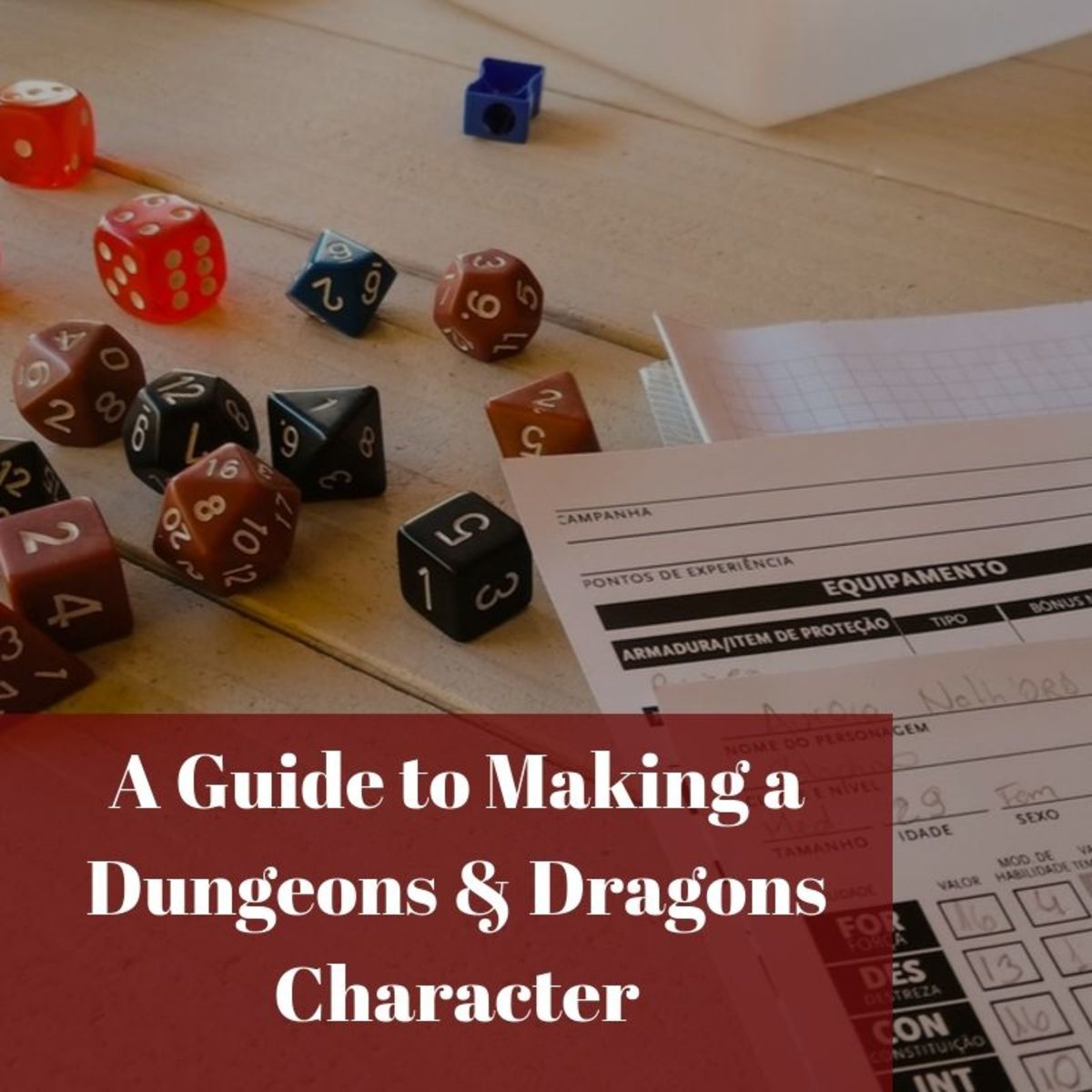 Building a character means including choosing a race or class, learning stats, picking skills, getting the right equipment, and creating a character description.