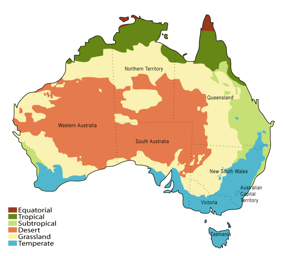 Map of Australia & National Climate