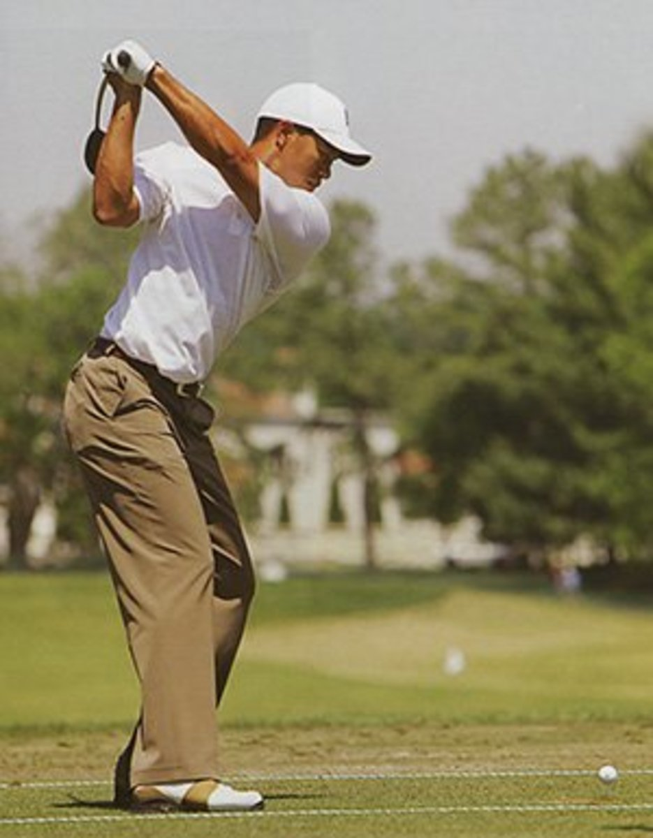 Pay special attention to Tiger's hips . . . do they fly open?  Or does he keep them quiet and stationary?