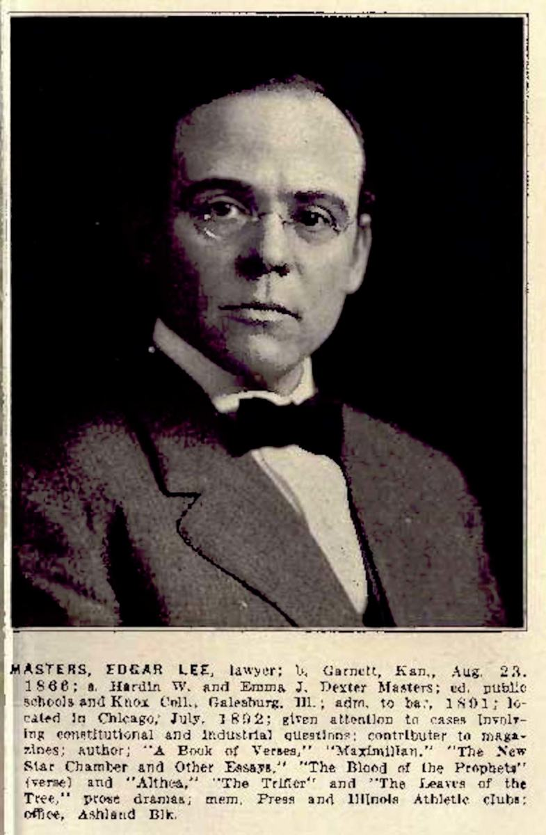 Edgar Lee Masters, Esq. - Clarence Darrow Law Library