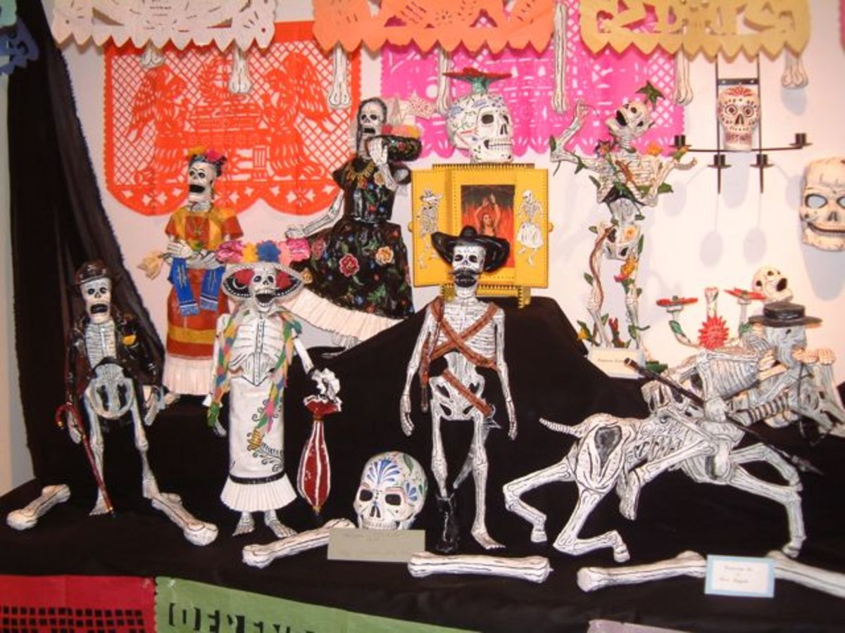 Dia de Los Muertos altar display