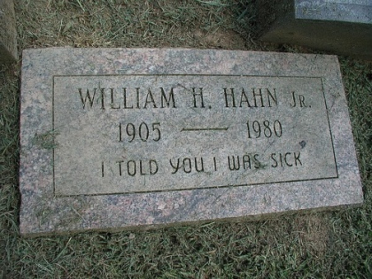 Examples of Funny and Bizarre Epitaphs