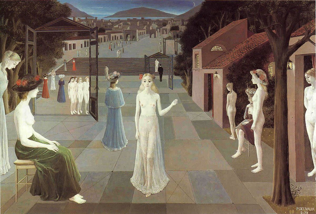 Way to Rome by Paul Delvaux