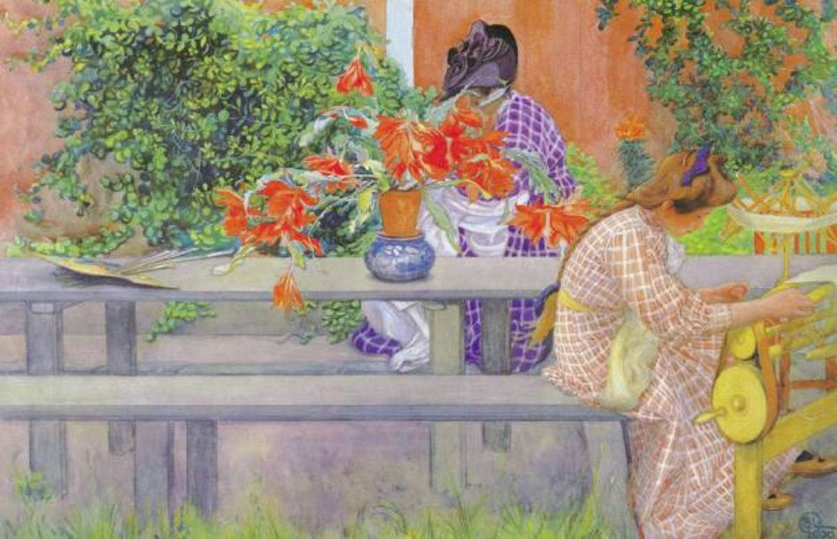 The Life and Paintings of Swedish artist and illustrator, Carl Larsson