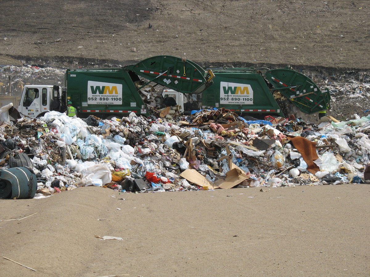 The vast amount of waste produced by humans has a huge impact on the environment.