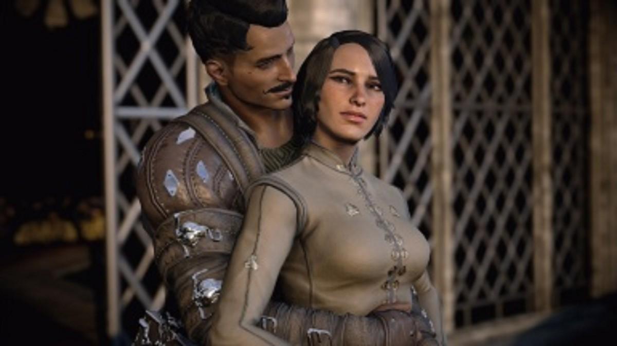 Dorian romancing a female Inquisitor. Gasp!
