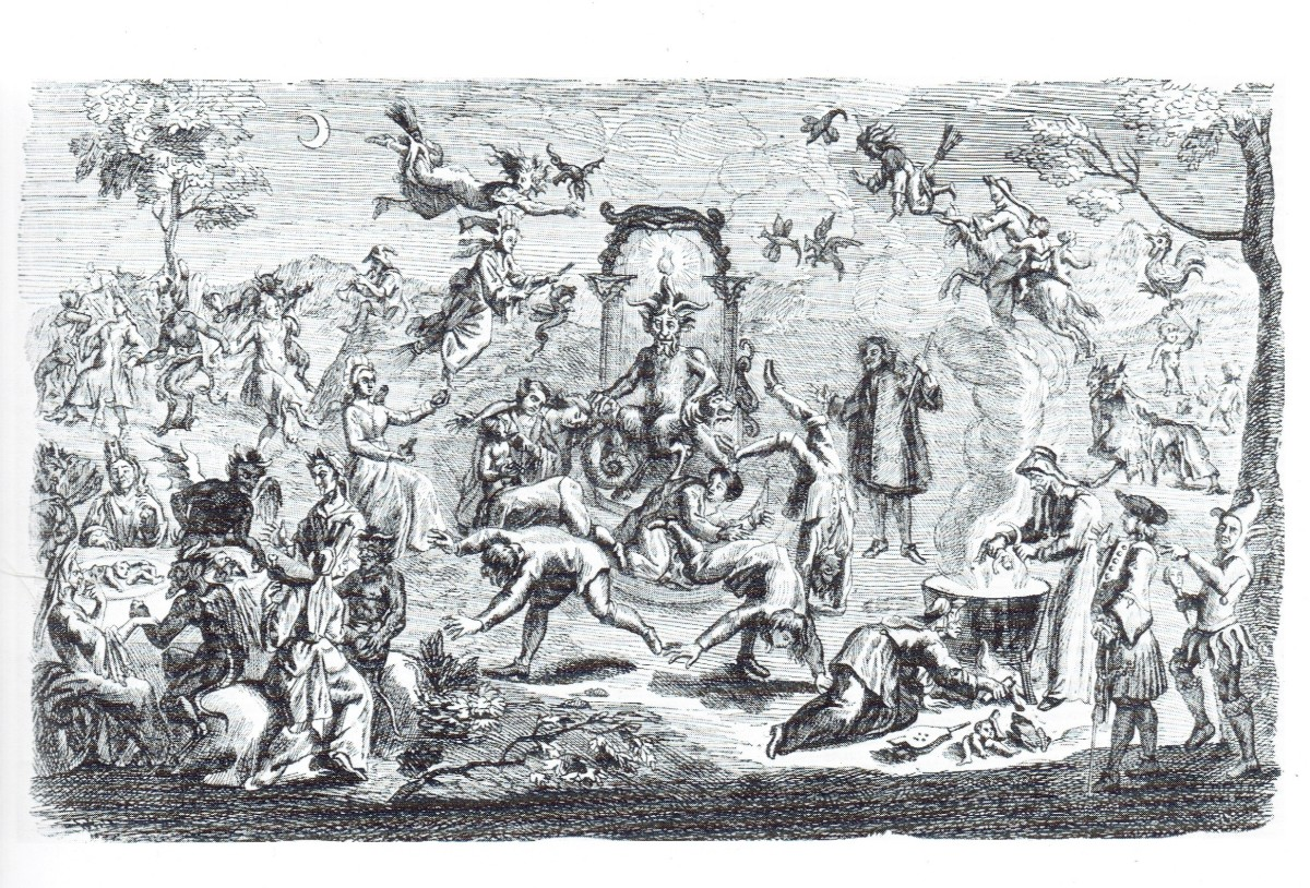 19th century depiction of so many misconceptions, clichés, and myths about witchcraft