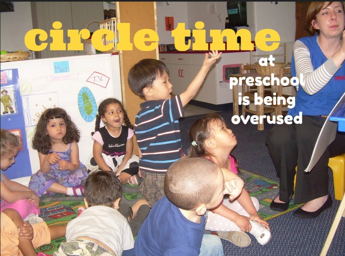 Small group activities and hands-on learning are far more effective than circle time.